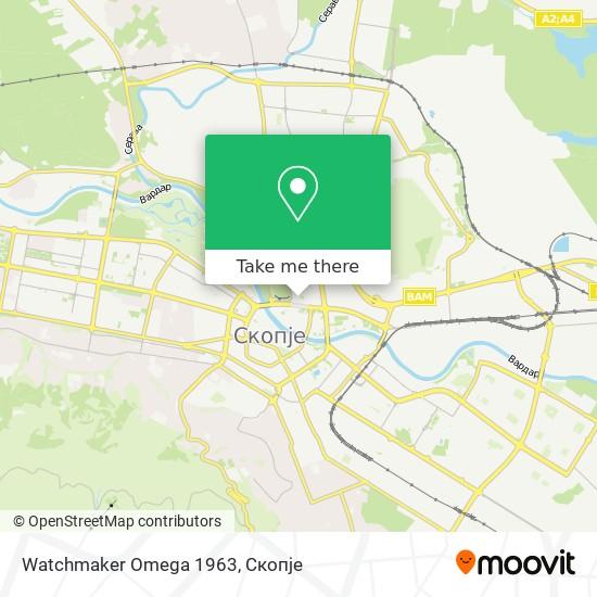 Watchmaker Omega 1963 map