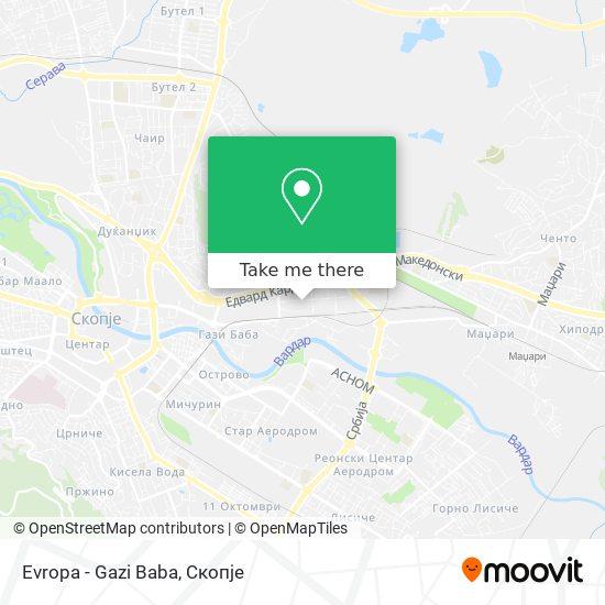 Evropa - Gazi Baba map