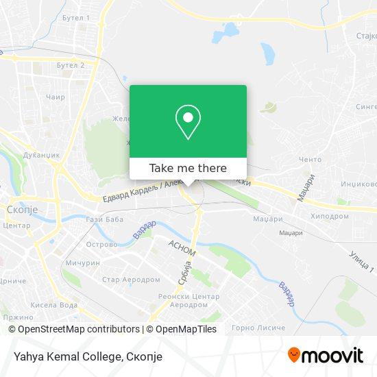 Yahya Kemal College map