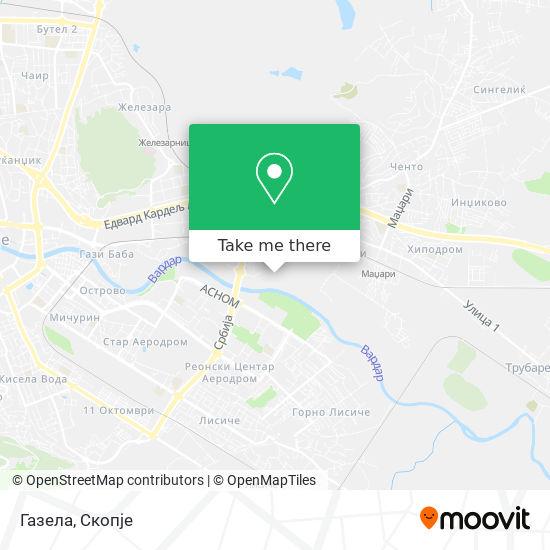 Газела map