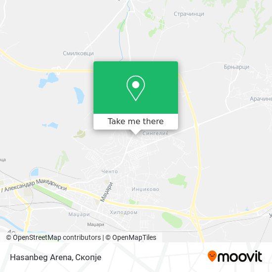 Hasanbeg Arena map
