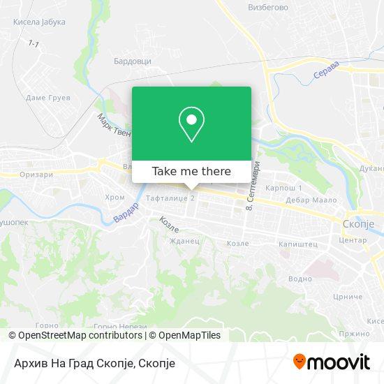 Архив На Град Скопје map