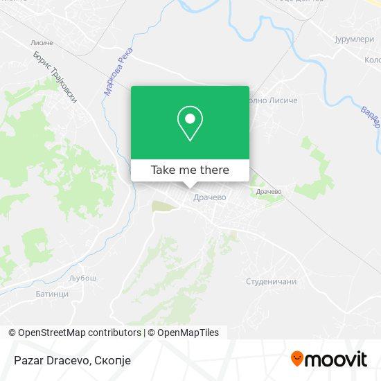 Pazar Dracevo map