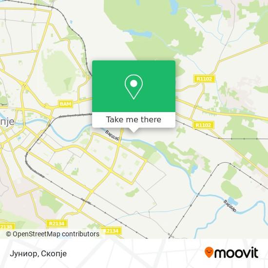 Јуниор map