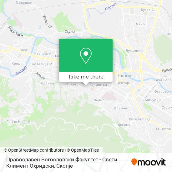 Православен Богословски Факултет - Свети Климент Охридски map