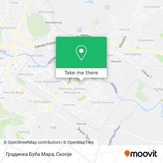 Градинка Буба Мара map