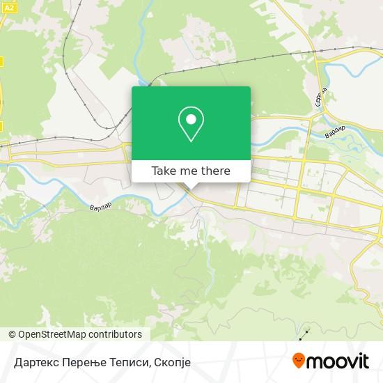 Дартекс Перење Теписи map