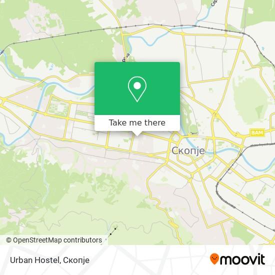 Urban Hostel map
