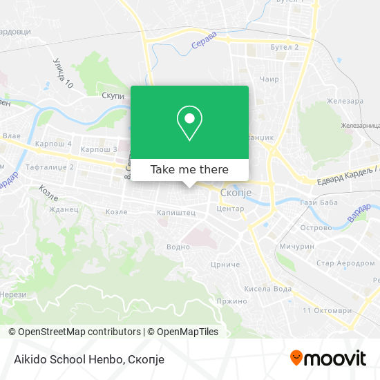 Aikido School Henbo map