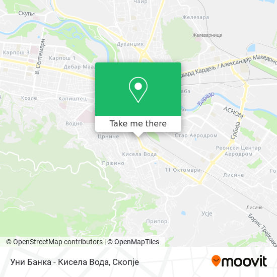 Уни Банка - Кисела Вода map