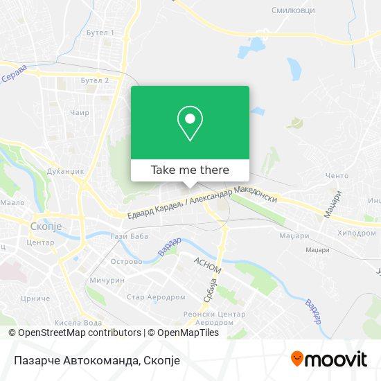 Пазарче Автокоманда map