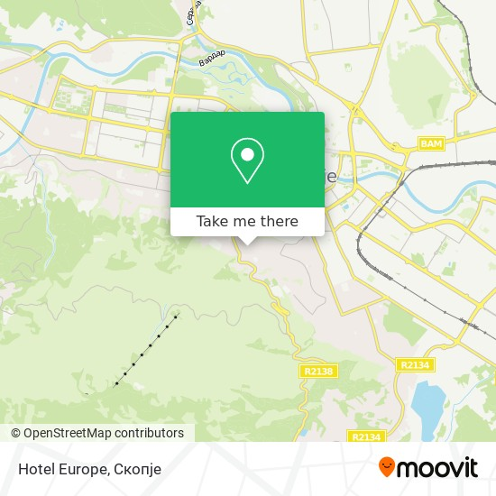 Hotel Europe map