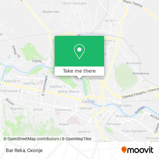 Bar Reka map