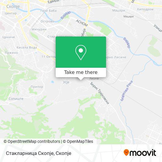 Стакларница Скопје map