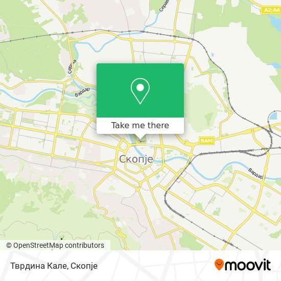 Тврдина Кале map