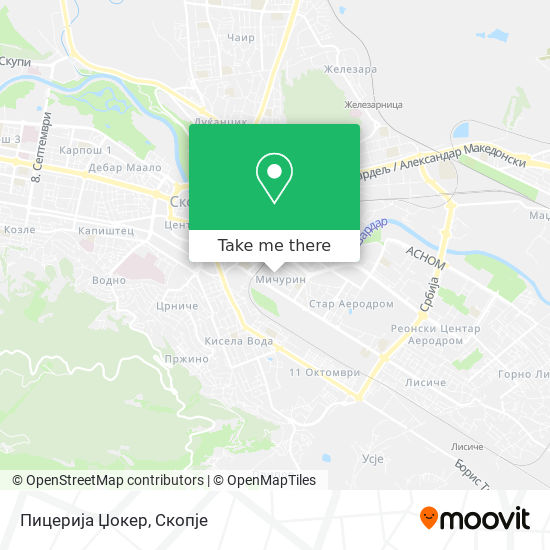 Пицерија Џокер map