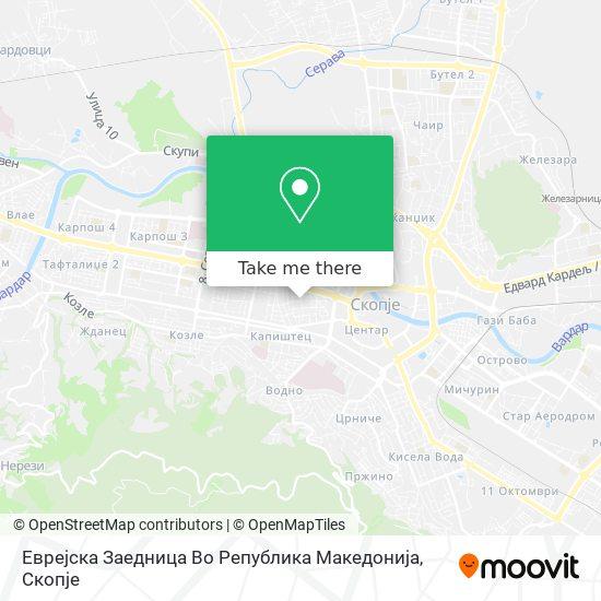 Еврејска Заедница Во Република Македонија map