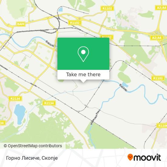 Горно Лисиче map