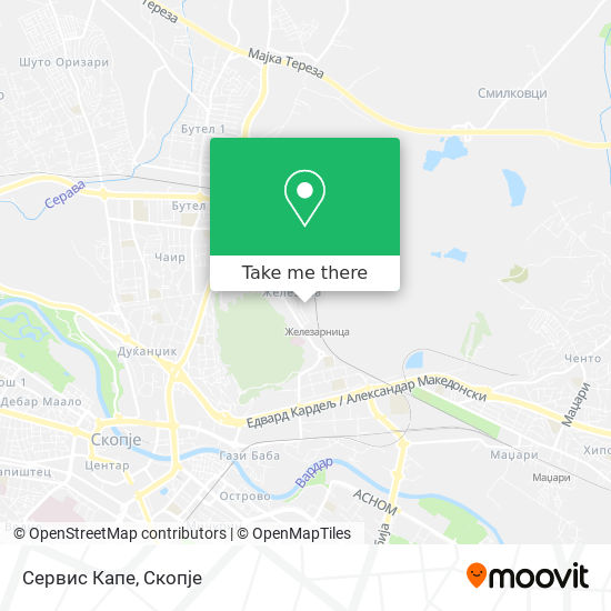 Сервис Капе map