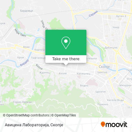 Авицена Лабораторија map