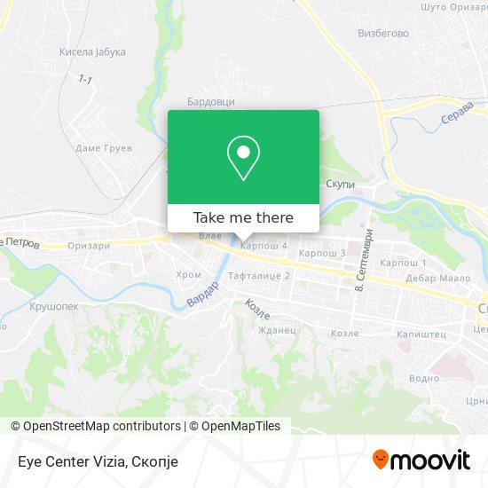 Eye Center Vizia map