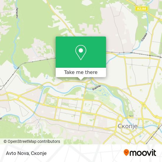 Avto Nova map