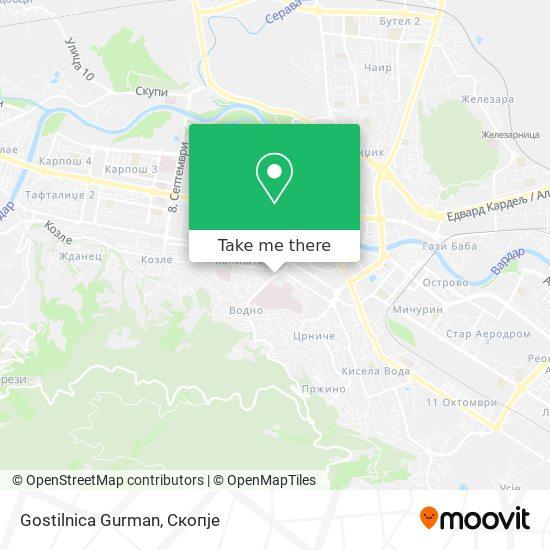 Gostilnica Gurman map