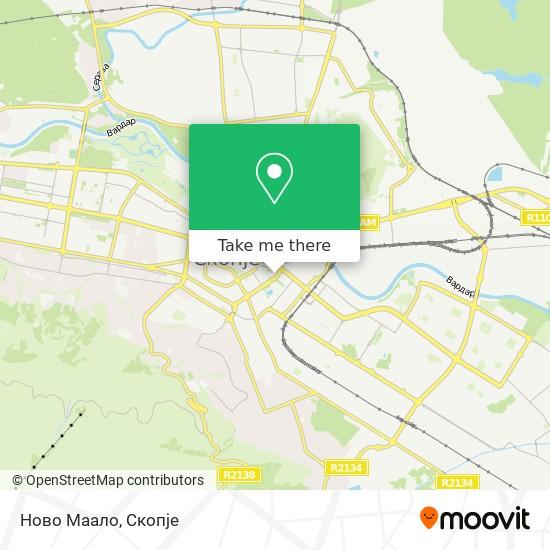 Ново Маало map