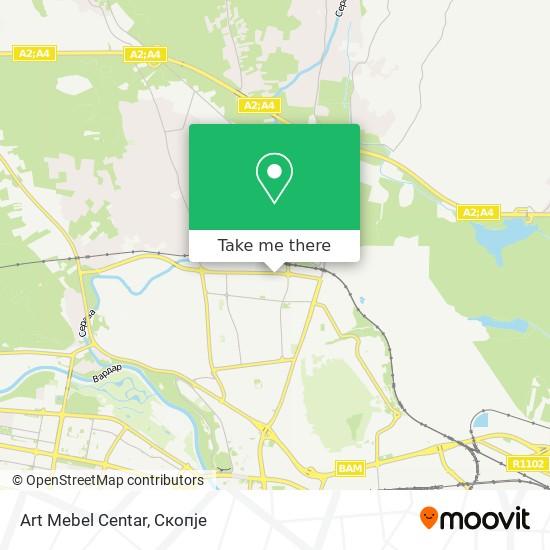 Art Mebel Centar map