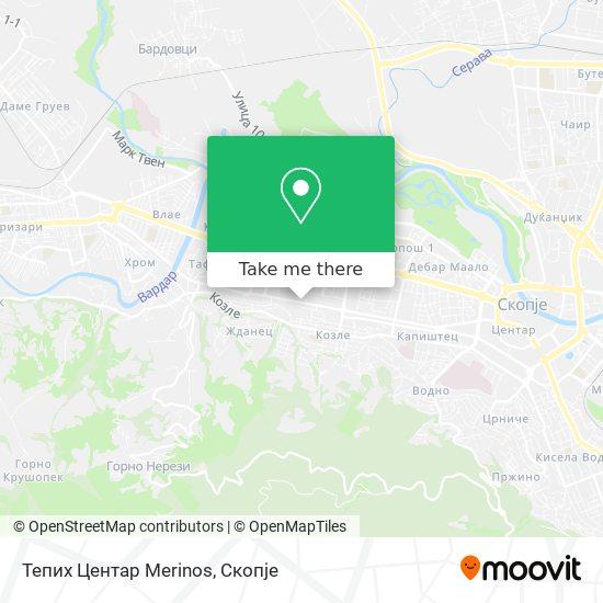 Тепих Центар Merinos map