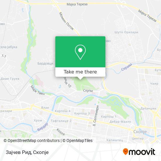 Зајчев Рид map