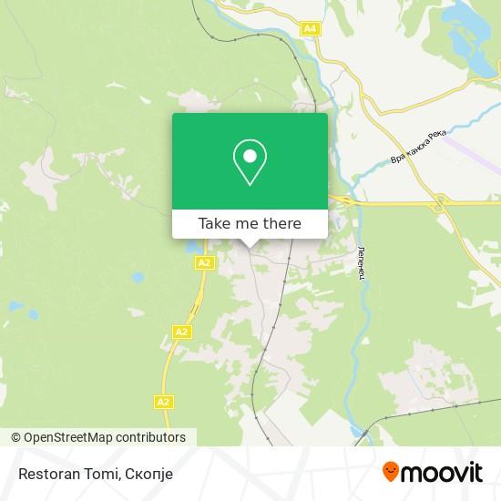 Restoran Tomi map