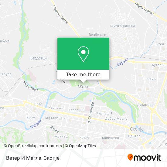 Ветер И Магла Бифе map