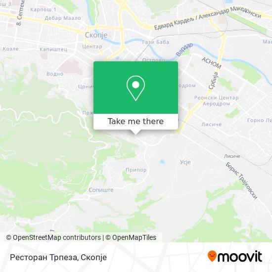 Ресторан Трпеза map
