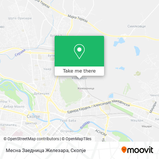 Месна Заедница Железара map
