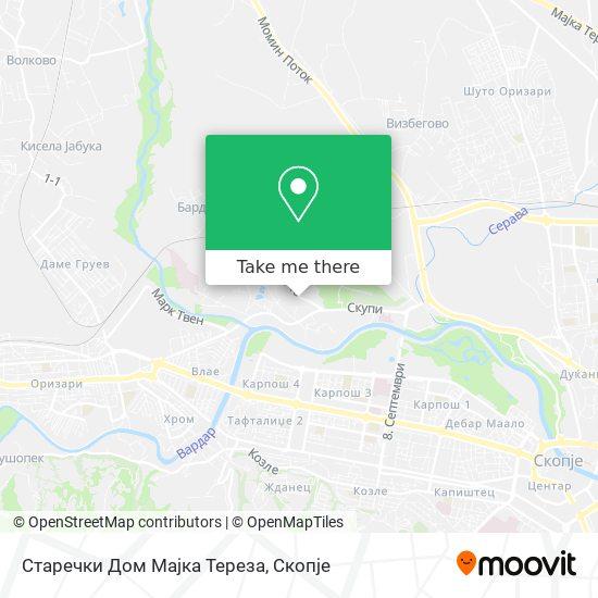 Старечки Дом Мајка Тереза map