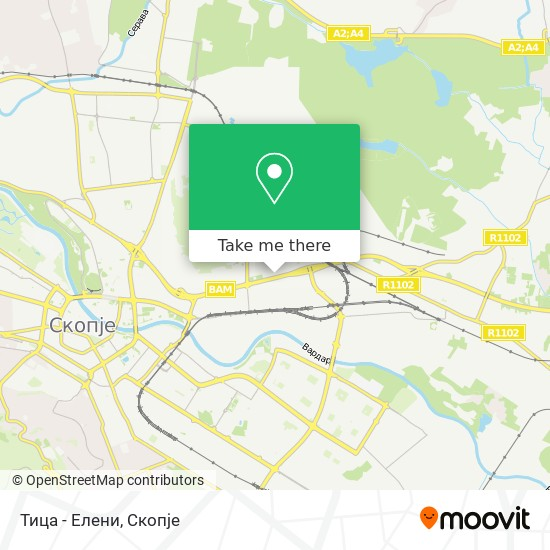 Тица - Елени map