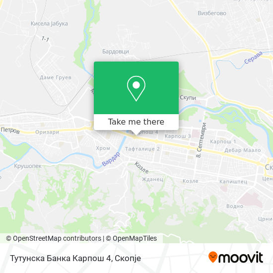Тутунска Банка Карпош 4 map