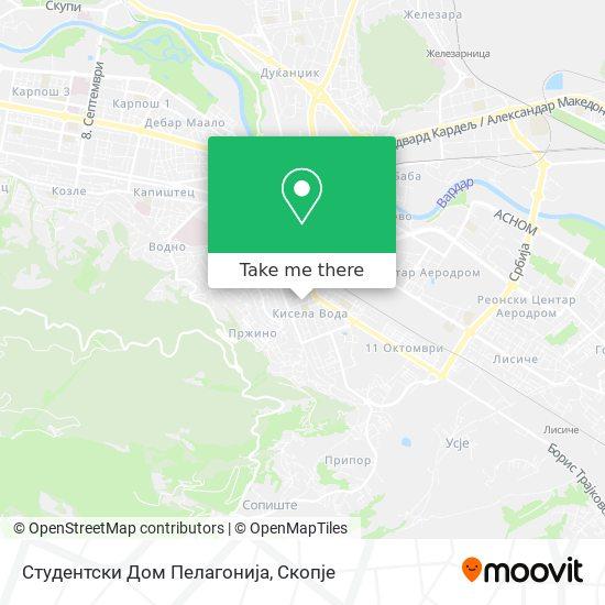 Студентски Дом Пелагонија map