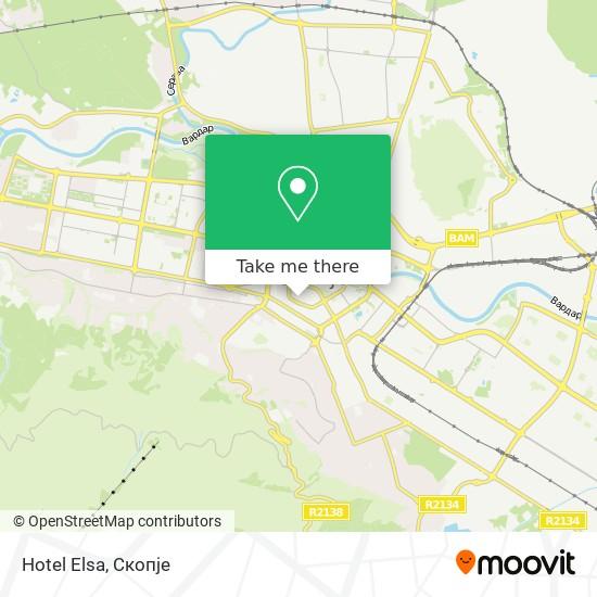 Hotel Elsa map