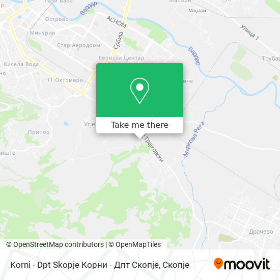 Korni - Dpt Skopje Корни - Дпт Скопје map