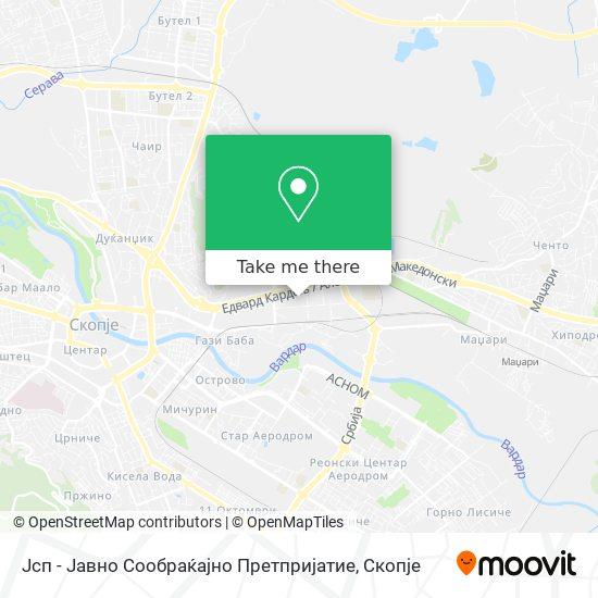 Јсп - Јавно Сообраќајно Претпријатие map