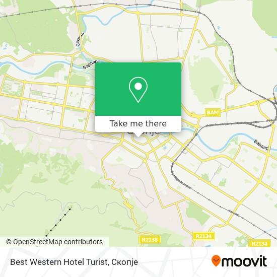 Best Western Hotel Turist map