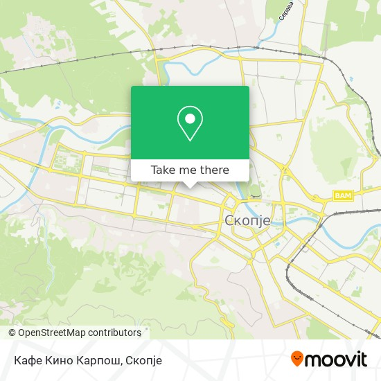 Кафе Кино Карпош map