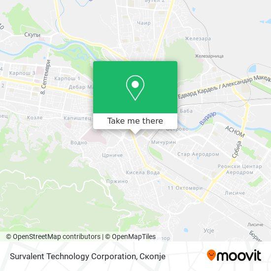 Survalent Technology Corporation map
