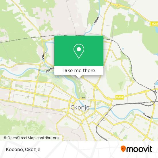 Косово map