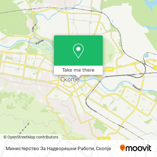 Министерство За Надворешни Работи map
