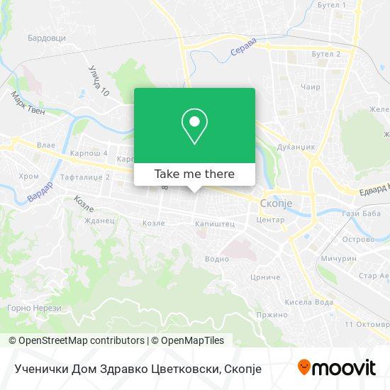 Ученички Дом Здравко Цветковски map