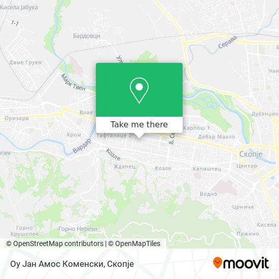 Оу Јан Амос Коменски map