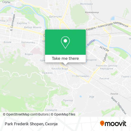 Park Frederik Shopen map